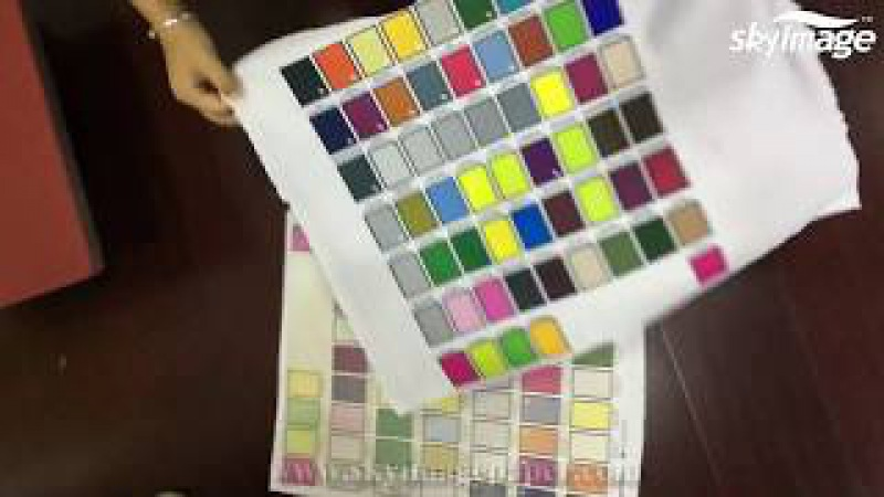 Pantone color printing test on 70gsm quick dry sublimation paper