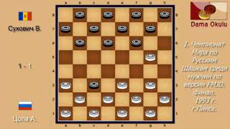 Сухович В. - Цопа А. II. Чемпионат Мира по Русским шашкам. 1994 г.