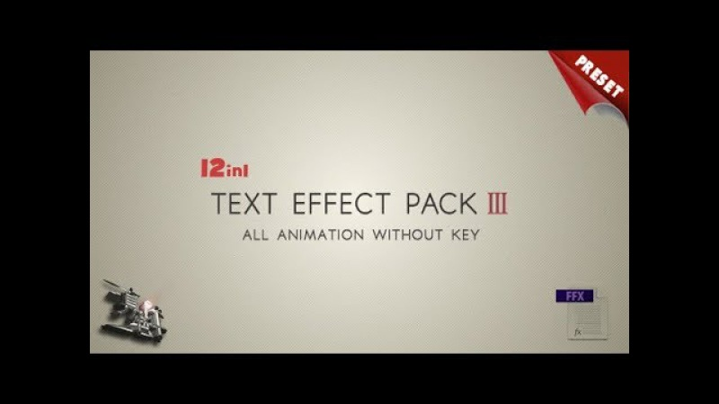 Text FX Pack III | AF Templates | videohive