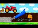 МУЛЬТИК ПРО ТРАКТОР ТРАКТОР НА ФЕРМЕ / CARTOON ABOUT A TRACTOR A TRACTOR ON THE FARM