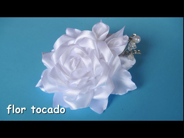 DIY - Flor tocado niña de comunión - Flower headdress communion girl