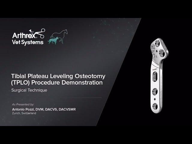 Демонстрация проведения выравнивающей остеотомии плато большеберцовой кости (TPLO) / Tibial Plateau Leveling Osteotomy (TPLO) Procedure Demonstration