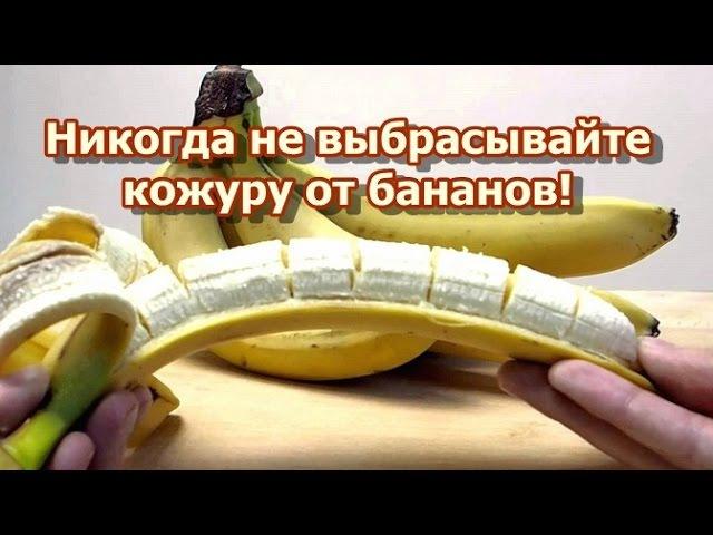 Никогда не выбрасывайте кожуру от бананов!