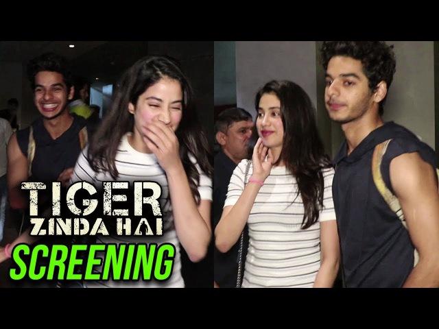 Ishaan Khatter Protects Jhanvi Kapoor From Paparazzi At Tiger Zinda Hai Screening