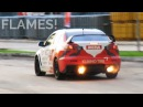 CRAZY Mitsubishi Lancer Evo X Drifting! Anti-Lag, Backfires and FLAMES!