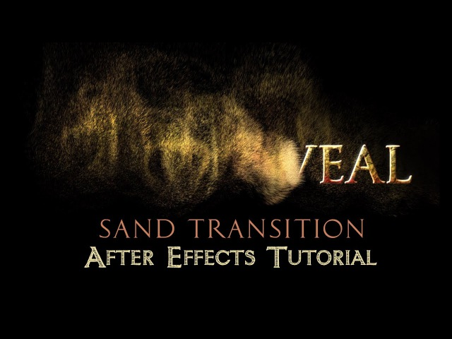 Text to Sand Transition After Effects Tutorial No Plugins