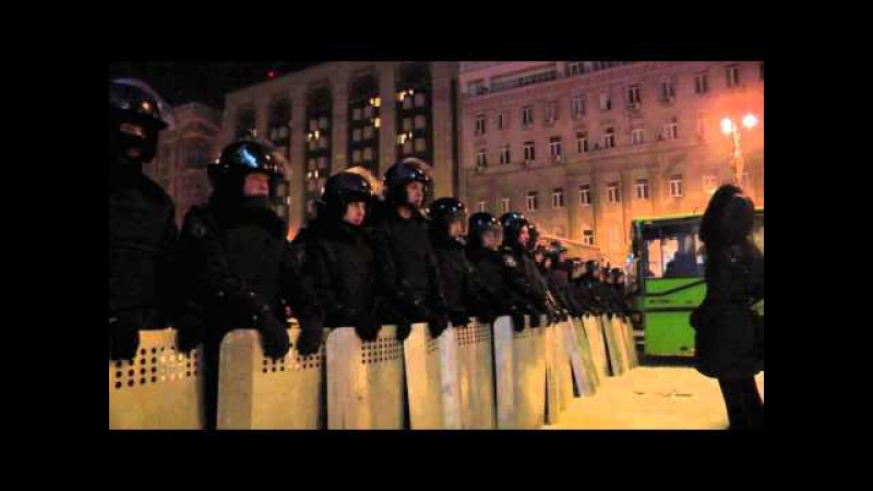 Berkut and Police Security Forces Preparing for the Maidan Cleanup, Kiev, Ukraine 10.12.2013