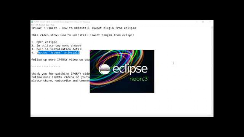 IPGRAY Jsweet How to uninstall Jsweet plugin from eclipse