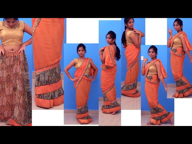 How to wear Mumtaz Style Saree Perfectly Step By Step  Mumtaz Style Saree drape Video