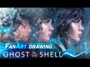 Digital Painting - Ghost in the shell by AvvArt