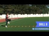 Football coaching video - soccer drill - ladder coordination (Brazil) 8