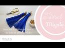 Tuto Miyuki: Boucles d'oreilles pompons de soie et attache en perles