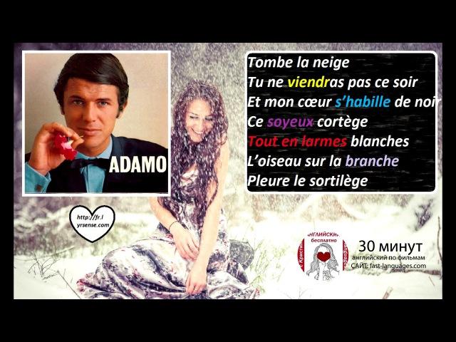 Французский язык по песням 7 с Кристиной Франц TOMBER LA NEIGE (ADAMO)