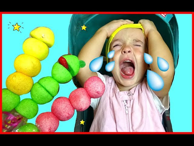 Bad Baby with Tantrum and Crying for Lollipops Bad monkey steals candy Learn Colors with