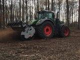 мульчер FAE UMH MEGA трактор FENDT 1050 VARIO (517 лс) измельчение пней