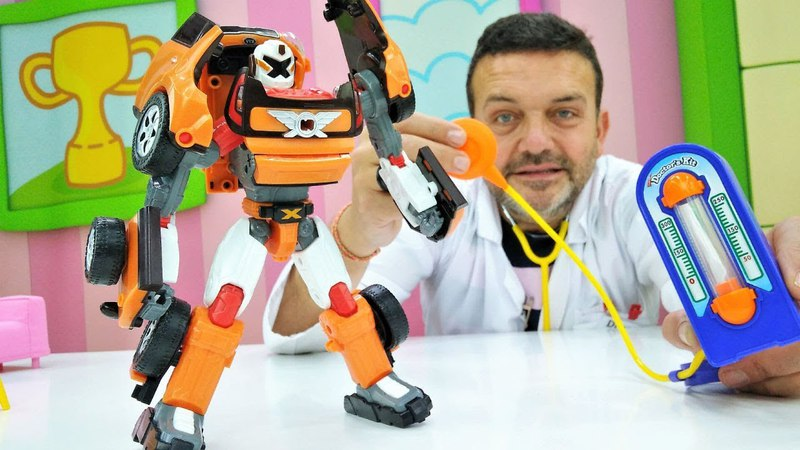 Tobot va al Doctor Pep. Transformers Robots español.