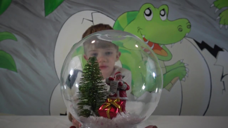 DIY Как сделать снежный шар дома с ребенком__ Мастер класс МК__ Hand made snow b