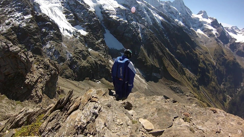 GoPro Wingsuit Flight Through 2 Meter Cave - Uli Emanuele