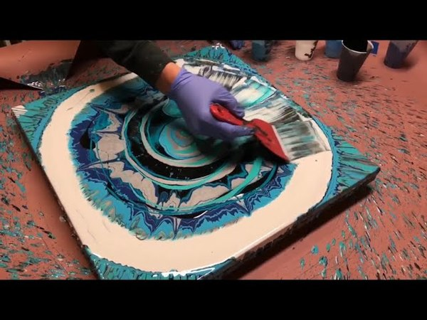 Fluid Painting Acrylic Spin Pour See description recipe Please Share Re Upload Wigglz Art