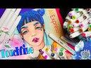 НОВЫЙ КАНАЛ для чего?✍🏻 Рисуем девочку с синими волосами обзор фломастеров TOUCHFIVE с Алиэкспресс