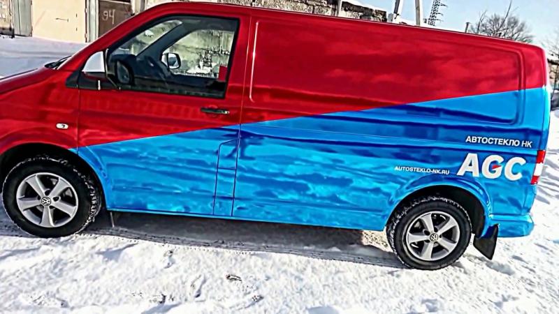 Ваген wrapped v хром AVERY ⁄⁄⁄ AGC logo car ⁄⁄⁄ autosteklo-nk.ru
