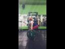 Юлия Зауголова - тяга 140х5, первый из пятнадцати подходов