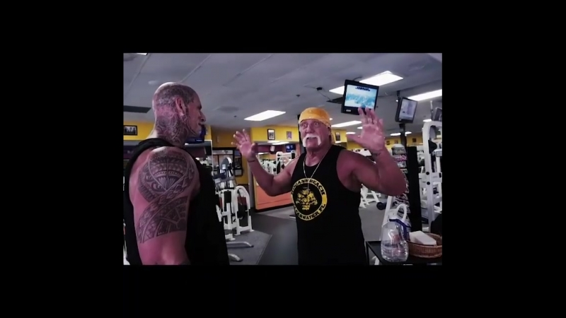 Hulk Hogan and Martyn Ford