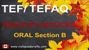 Examen TEF TEFAQ Oral section B Trucs et astuces Préparation à l'immigration