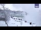 Как Ниагарский водопад превратился в ледяное царство