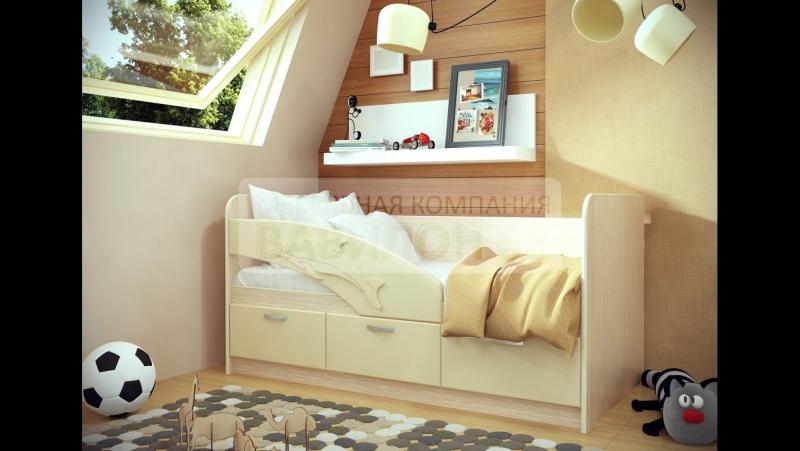 Кровать детская Дельфин размер 1,6м цвет ваниль vk.com/mebel47uyt тел. 8 (81365) 2-03-98; 8-962-696-08-55. г. Подпорожь