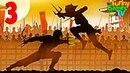 Мультик про бой с тенью для детей Сражаемся с бандитом Рыси по имени Кирпич Игра Shadow Fight 2