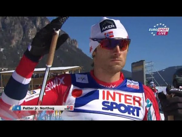 Dario Cologna vs Johan Olsson Men's 50km at World Championship 2013 Val di Fiemme