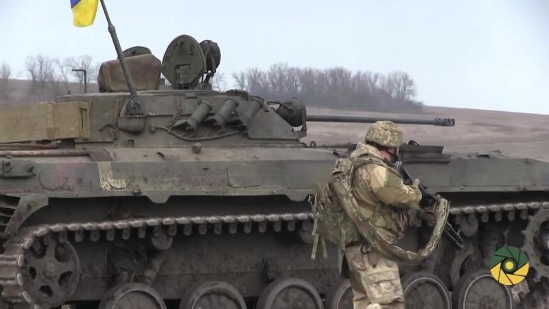 Навчання піхоти на передовій