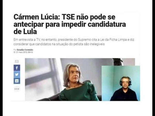 Cármen Lúcia do STF: TSE não pode impedir registro da candidatura de Lula