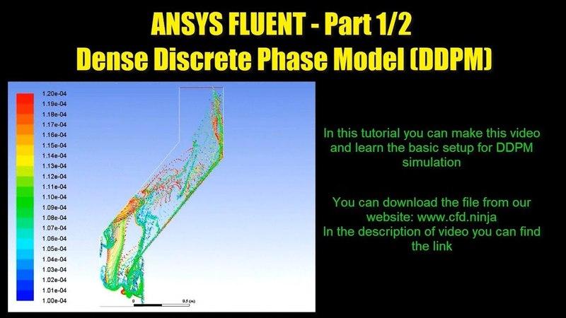 ANSYS FLUENT - Tutorial Dense Discrete Phase Model (DDPM) - Part 1/2