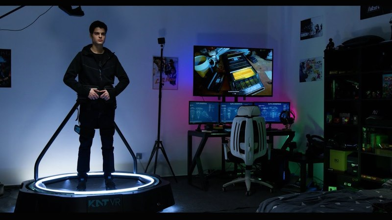 The KAT Walk mini - A Ready Player One omni-directional VR Treadmill (Compact Unrestrictive).