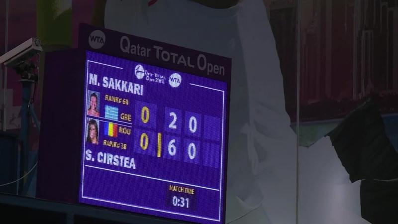 WTA Doha R1 2018 Sakkari vs Cirstea