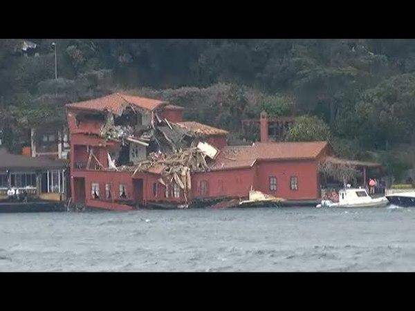 İstanbul Boğazında Dev Tanker Yalıyı Yıktı, Yalının İçinden Zor Anlar