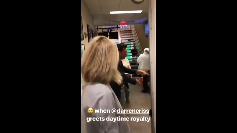 DarrenCriss backstage at @LiveKellyRyan via Live with Kelly and Ryans Instagram Story January 17 2018
