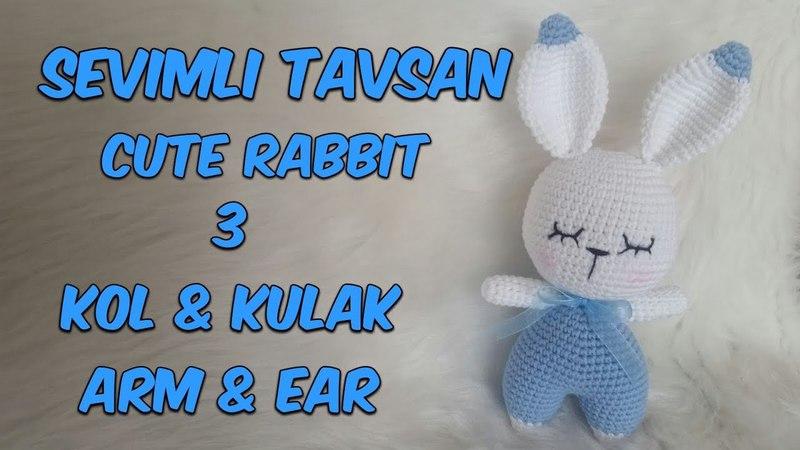 Amigurumi Örgü Oyuncak Tavşan 3 ( Kol Kulak) Amigurumi Crochet Rabbit 3 (Arm Ear)