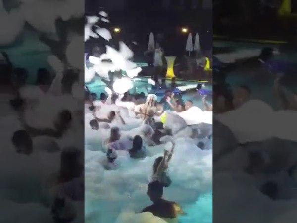 Azura deluxe resort pool foam party