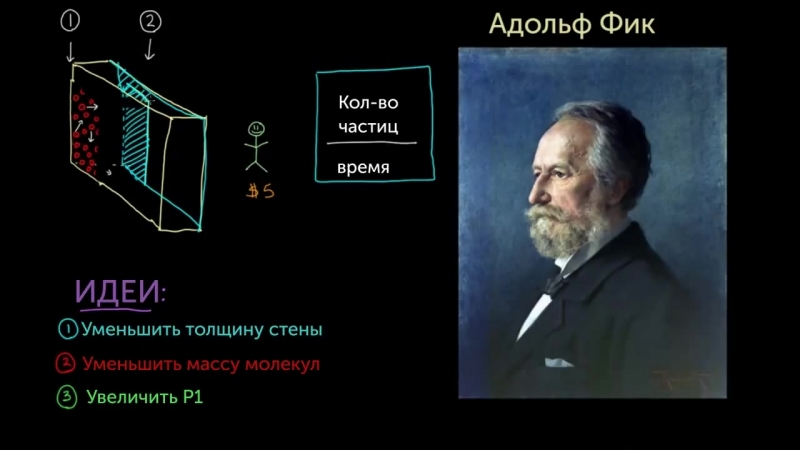 Закон диффузии Фика