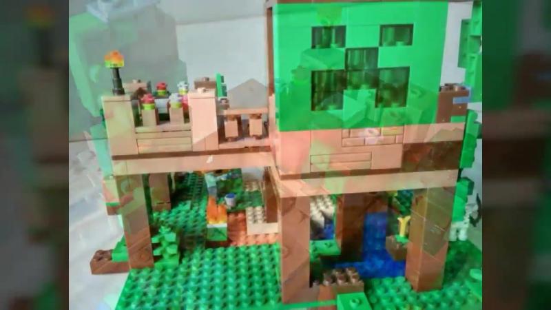 BELA MY WORLD 10471 Домик на дереве в Джунглях - Аналог LEGO Minecraft