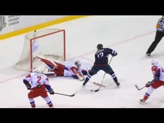 Борис Садецки забивает 1-й гол в КХЛ