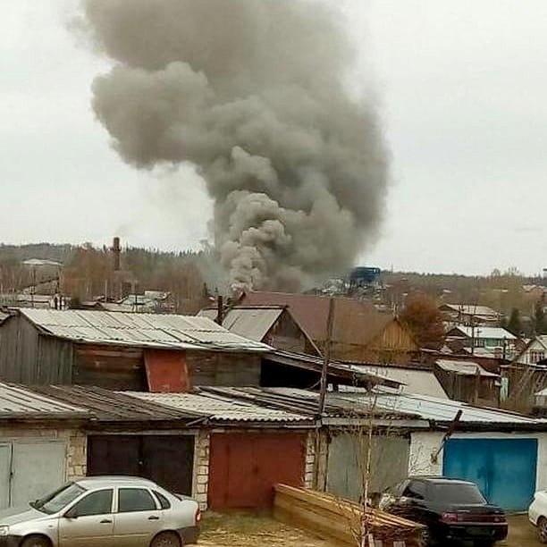 Пожар в п. железнодорожный 26.05.2018