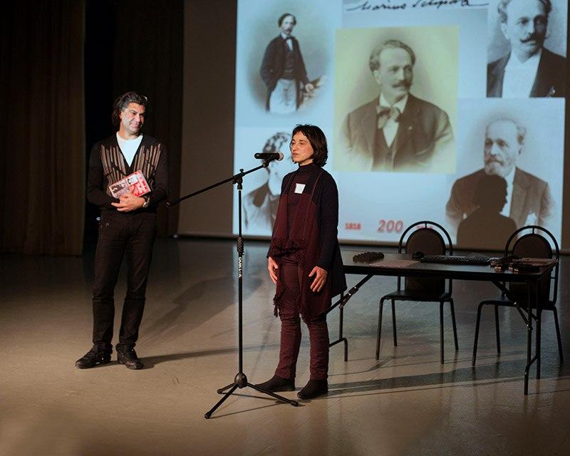 Открытие конференции. Николай Цискаридзе и Паскаль Мелани.