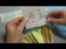 Вязание спицами домашние тапочки -следки