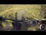 Скоростной спуск на горном велосипеде в Новой Зеландии