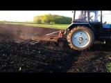 Весенняя культивация на тракторе МТЗ-82 - Spring cultivation on tractor MTZ-82