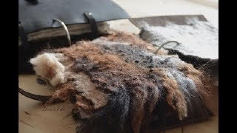 Минутка о войлоке 2017 - 40 - Валяный эко-мех из флисов - подробная лекция